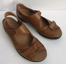 Ara Germany Made Sandals Comfort Shoes Brown Leather Removable Insoles US Size 5