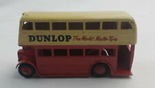 "Dinky Toys No 290 Leyland Double Deck Bus In Red/Cream ""Dunlop""1959-61 Excellent"