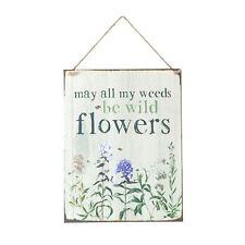 Wild Flower Garden Tin Sign Gisela Graham