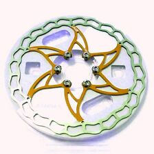 The World's Lightest ASHIMA Ai2 Disc Rotor, 160mm, Gold, Y76