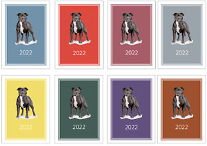 Staffordshire Bull Terrier 2022 A5 Week View Diary DOG SHOW DATES/APPOINTMENT