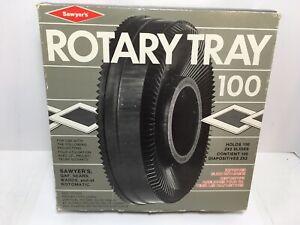Vtg View Master Sawyers Rotary Slide Tray Carousel 100 Slides Lot Of 78 Slides