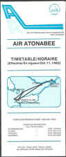 Air Atonabee system timetable 10/11/82 [7072] Buy 2 Get 1 Free