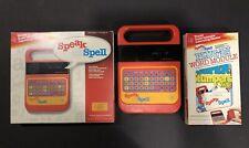 Texas Instruments Speak & Spell 1980 w/ Plug-In, Instructions & Box Works!