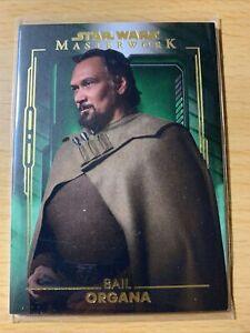 2020 Star Wars Masterwork Bail Organa Parallel # 80/99