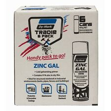 Dy-Mark 400g Galvanised Zinc Trade Pack Metal Paint - 6 Pack