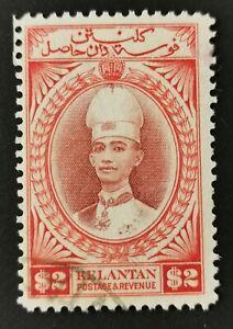MALAYA KELANTAN 1937 $2 SG53 VF USED CAT £250.
