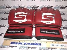 CUNG LE MMA UFC SIGNED AUTOGRAPHED RED PAIR OFFICIAL STRIKEFORCE GLOVES
