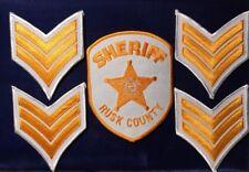 NANEE-B) RUSK COUNTY , HENDERSON TEXAS SHERIFF'S OFFICE PATCH & CHEVRONS MINT
