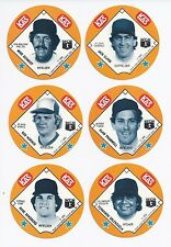 1985 85 KAS Potato Chips Snack Time Disc SET Ripken Gwynn Seaver Carlton Schmidt