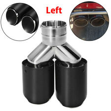 ID:63mm OD:89mm Stainless Steel Car Dual xhaust Tip Carbon Fiber Exhaust Muffler