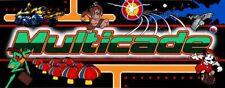 "MAME Multicade Arcade Marquee 26""x8"" Or Custom Size High Quality Translite"