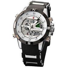 Shark Fashion Mens LCD Digital Rubber Date Day Sport Army Quartz Wrist Watch