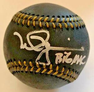 Cardinals Athletics Mark McGwire Signed Black Baseball Big Mac Auto MLB Hologram
