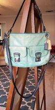 Coach Spectator  Shoulder Bag Green Turquoise  Leather Handbag 18995