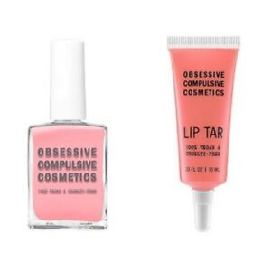Obsessive Compulsive Cosmetics OCC Lip Tar and Nail Polish Bundle Set, Femme