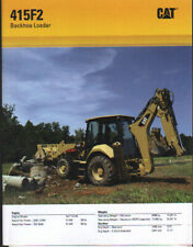"Caterpillar ""415F2"" Tractor Backhoe Loader Brochure Leaflet"