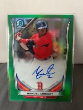 2014 Bowman Chrome Manuel Margot Green Auto Refractor /75 Autograph BCAP-MM
