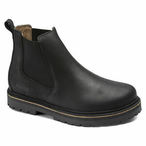 Birkenstock STALON Stiefel Chelsea Boots black schwarz normale Weite Leder NEU