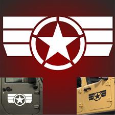2x 58cm 6 Motive US Army Retro Sterne Auto Aufkleber Sterne USAF jeep USA Army F