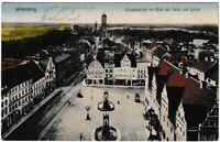 Ansichtskarte Wittenberg - Gesamtansicht mit Blick auf Markt und Schloss 1915