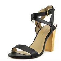 NIB Julianne Hough Womens Heels Black Leather Sandals Size 7.5, $85
