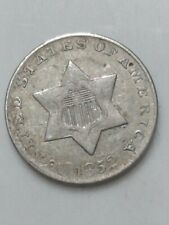 1852 Silver Three Cent Piece Extra Fine Condition