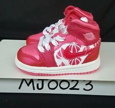 NIKE AIR BABY TODDLER JORDAN RETRO 1 GIRLS PREMIUM I  VALENTINES PINK SZ 3C