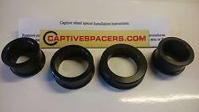 Yamaha R6 1999 2000 2001 2002  5EB Captive wheel Spacers. Full set. Black
