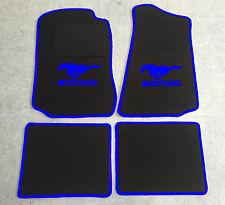 Autoteppich Fußmatten für Ford Mustang 1994'-2004' schwarz blau 4teilig Neuware