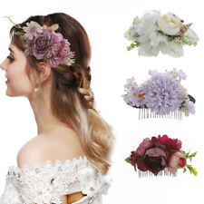 Women's Flower Hair Comb TuckComb Wedding Bridal Hair Clips Accessories Party