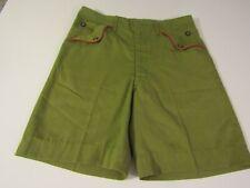 Vtg Boy Scouts Talon Zipper uniform shorts high waist red piping Youth size