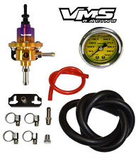 VMS RACING FUEL PRESSURE REGULATOR GAUGE KIT PURPLE GOLD FOR MITSUBISHI 3000GT