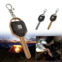 Mini COB LED Bright Key Light Cover Keychain Torch Outdoor Camping Flashlight