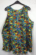 Markenlose geblümte ärmellose Damenblusen, - tops & -shirts
