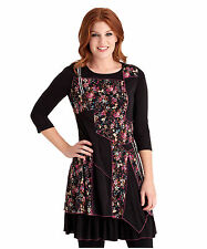 Polyester 3/4 Sleeve Tunic Dresses for Women