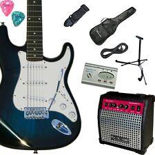 E-Gitarre inkl. Verstärker, Stimmgerät, Ständer, Tasche, Kabel, Gurt, Pleks, BB