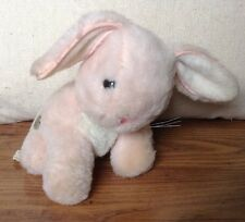 Rare Vintage Eden Musical Moving Pink Rabbit Plush Well Worn Stuffed Animal