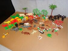HUGE VINTAGE MARX MINIATURE FARM AND ZOO ANIMALS LOT (HO-O SCALE) NOAH'S ARK SET