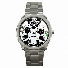 Panda Bear Giant China Bear Animal Gift Stainless Steel Sport Wrist Watch New!