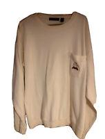 Vintage Christian Dior-  Long Sleeve T-Shirt- Embroidered Logo - Men's XL