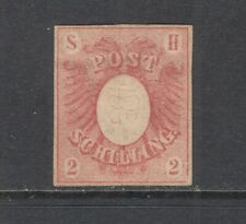 Schleswig-Holstein Sc 2 MLH. 1850 2s embossed Coat of Arms, 4 good margins, VF