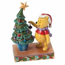 Disney Traditions 4039045 Winnie The Pooh With Xmas Tree New and Boxed