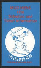 1975 Toledo Mud Hens  Pocket Baseball Schedule