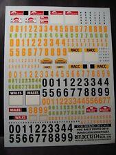 DECALS 1/32 PLAQUES RALLYE WRC 2010 JAPON / WALES / CATALOGNE - COLORADO  32174