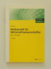 Mathematik für Wirtschaftswissenschaftler Band 1 Grundlagen Schwarze
