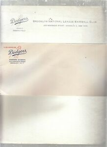 RARE 1957/8 BROOKLYN / LA DODGERS LETTERHEAD AND ENVELOPE UNUSED