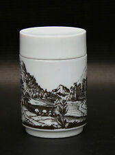Hutschenreuther Porzellan Dose mit Landschaftsbild - 11cm x 7,2cm Vintage