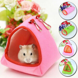 Pet Hamster Plush Bed Hanging Cage Nest Ferret Rat Mouse Squirrel House Tunnel