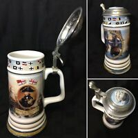 Battle of Trafalgar Danbury Mint  & NMM Pewter Lid Beer Stein Tankard